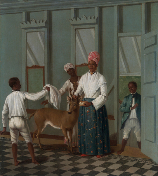 Agostino Brunias - Servants Washing a Deer