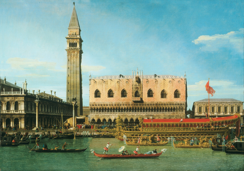 Canaletto (Giovanni Antonio Canal) - The Bucintoro at the Molo on Ascension Day