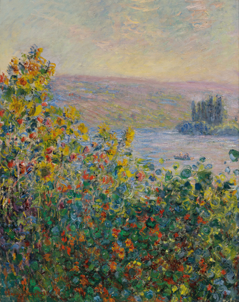 Claude Monet - Flower Beds at Vétheuil