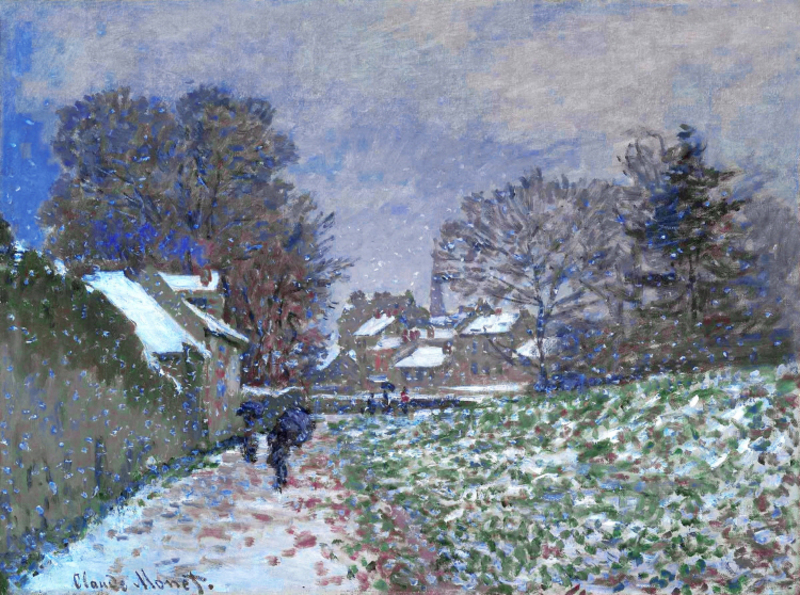 Claude Monet - Snow at Argenteuil