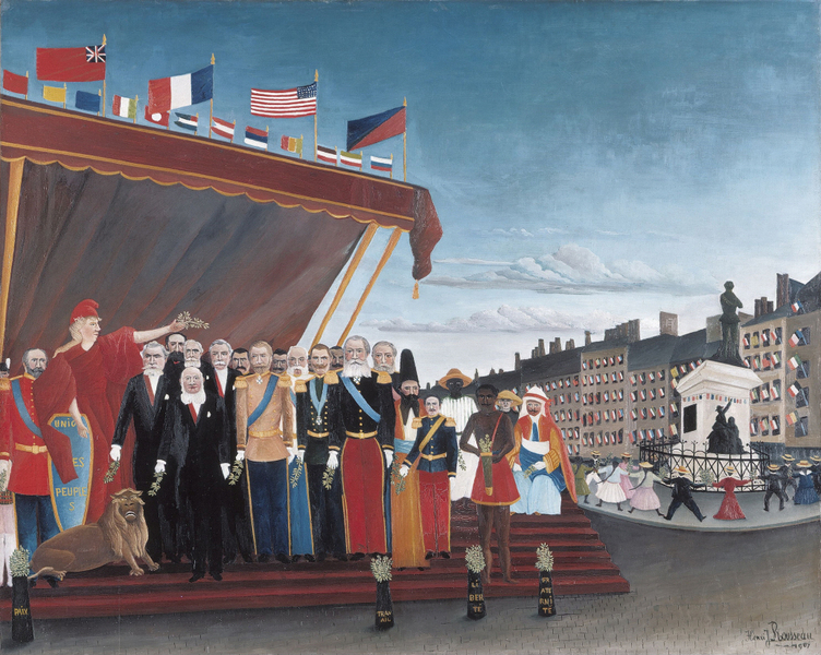 Henri Rousseau - The Representatives of Foreign Powers Coming to Greet the Republic as a Sign of Peace