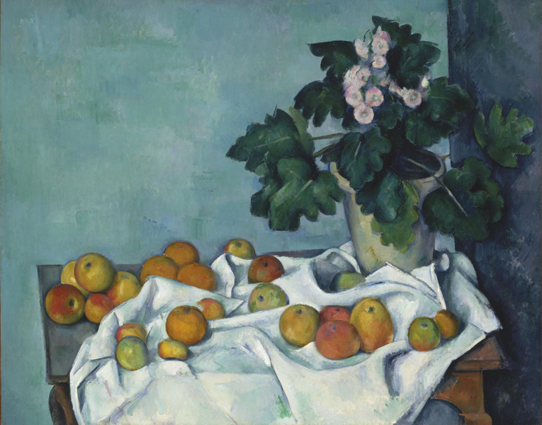 Paul Cézanne - Still Life with Apples and a Pot of Primroses
