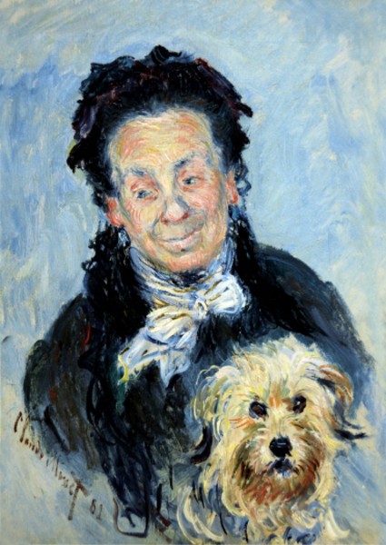 Claude Monet - portrait of eugenie graff madame paul
