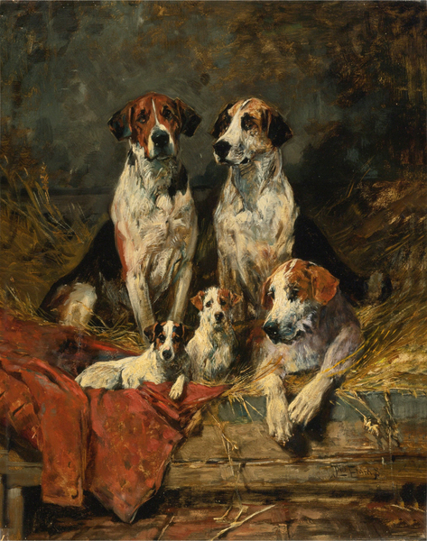 John Emms - FOUR FOXHOUNDS AND A TERRIER