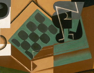 Juan Gris - Chessboard, Glass, and Dish, Philadelphia Museum of Art (detail)