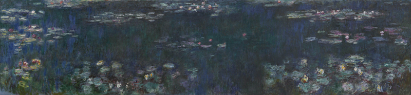 Claude Monet - The Water Lilies - Green Reflections