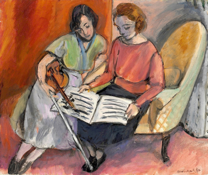 Henri Matisse - The Music Lesson, Two Women Seated on a Divan