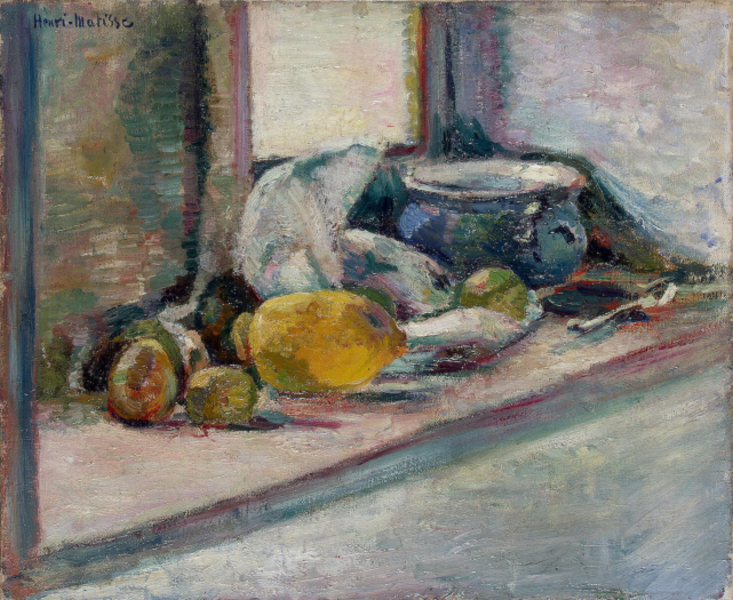 Henri Matisse - Blue Pot and Lemon (1897)