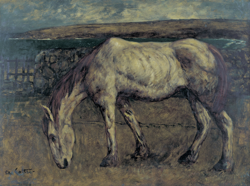 Charles Cottet - Old Horse in the Wasteland