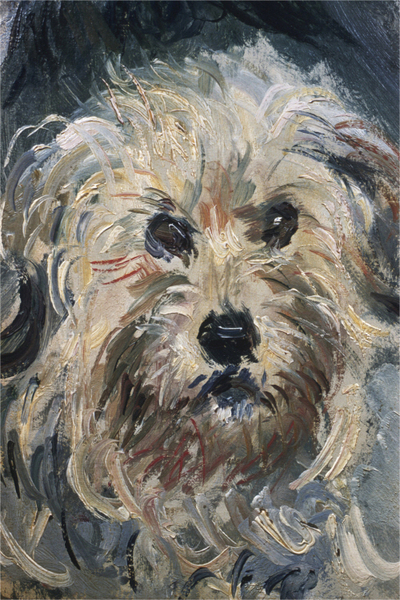 Claude Monet - Detail of Yorkshire Terrier from Eugenie Graff (Madame Paul)