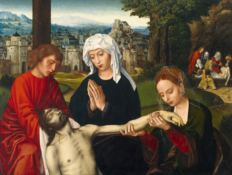 Ambrosius Benson - Pietà at the Foot of the Cross