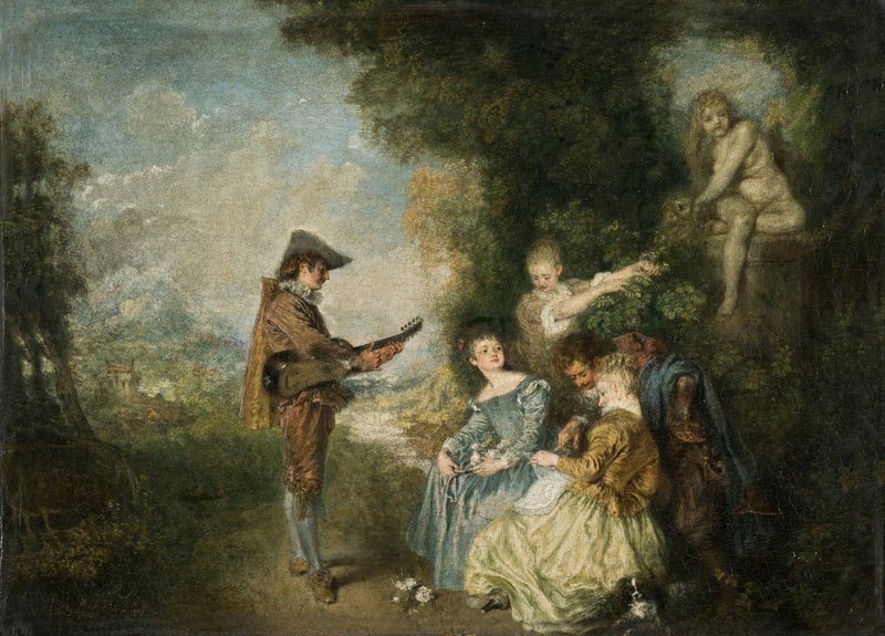 Antoine Watteau - The Love Lesson